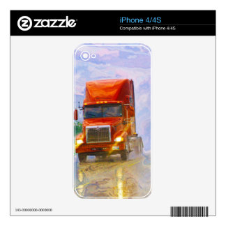 BIG RIG FREIGHT TRUCK DRIVER SKINS iPhone 4S DECAL