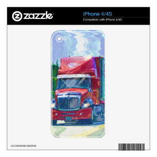 BIG RIG FREIGHT TRUCK DRIVER SKINS SKIN FOR iPhone 4S