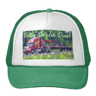 Big Rig Heavy Transport Cargo Truck Driver Hat