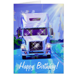 Big Rig Heavy Transport Truck-lover Birthday Card