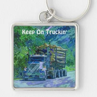 Big Rig Logging Truck Drivers Truckin' Key-Chains Keychain