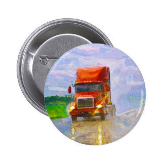 BIG RIG LORRIES & TRUCKS for Truck-lovers Pinback Button