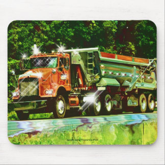 Big Rig Red Cargo Truck for Kids and Truckers Mouse Pad