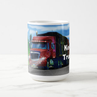 Big Rig Red Cargo Truck for Kids and Truckers Classic White Coffee Mug