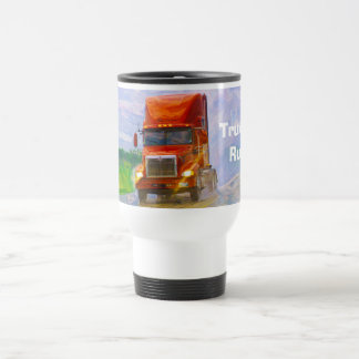 Big Rig Red Cargo Truck for Kids and Truckers 15 Oz Stainless Steel Travel Mug