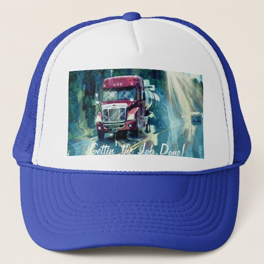 Big Rig Red Tanker Truck Driver's Hat