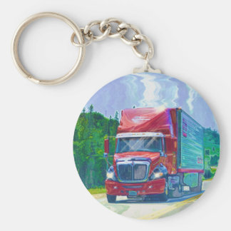 Big Rig Red Truck Drivers Truckin' Key-Chains Keychain
