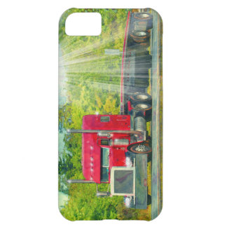 Big Rig Red Truck Heavy Transport Vehicle Cover For iPhone 5C