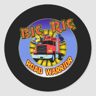 Big Rig T-shirts and Gifts For Him Classic Round Sticker