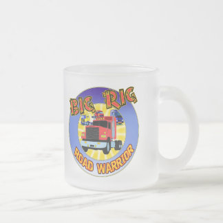Big Rig T-shirts and Gifts For Him Frosted Glass Coffee Mug