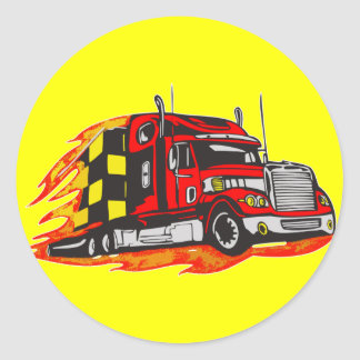 Big Rig Truck Classic Round Sticker