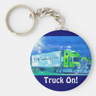Big Rig Truck Drivers Truckin' Key-Chains Keychain