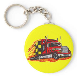 Big Rig Truck Keychain