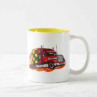 Big Rig Truck Two-Tone Coffee Mug