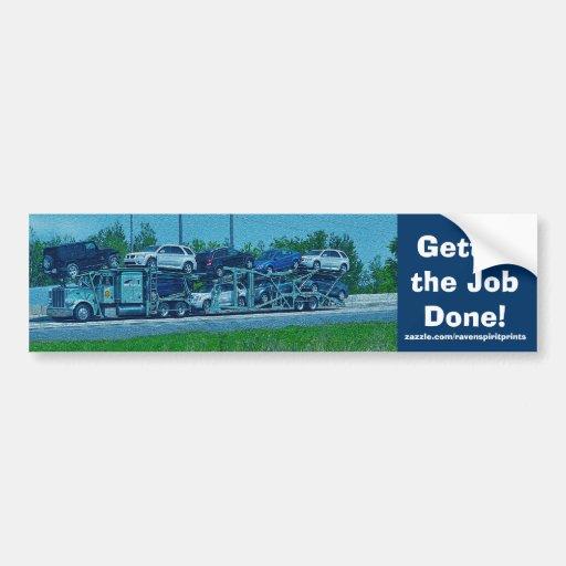 Big Rig Truckers Bumper Sticker Collection Car Bumper Sticker
