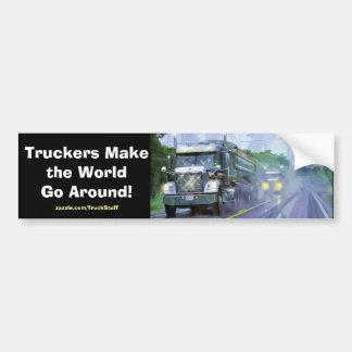 Big Rig Truckers Freightliner Bumper Sticker