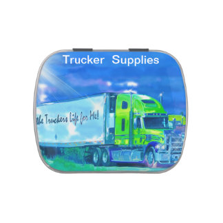 Big Rig Trucker's Lorry Design for Truck-lovers Candy Tin