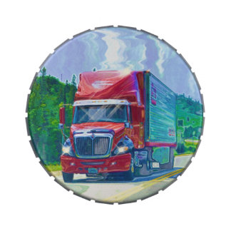 Big Rig Trucker's Lorry Design for Truck-lovers Candy Tins