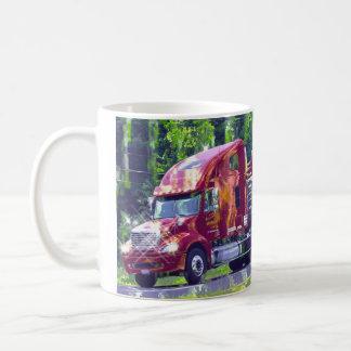 Big Rig Trucker's Lorry Design for Truck-lovers Coffee Mug
