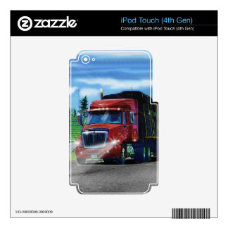 Big Rig Trucker's Lorry Design for Truck-lovers Decal For iPod Touch 4G