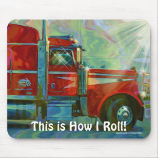 Big Rig Trucker's Lorry Design for Truck-lovers Mouse Pad