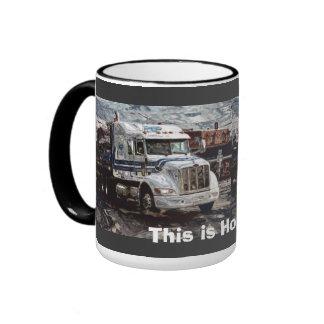 Big Rig Trucker's Lorry Design for Truck-lovers Ringer Mug