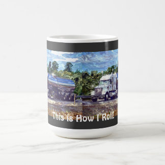 Big Rig White Cargo Truck for Lorry-drivers & Kids Mug