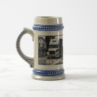 Big Rig White Cargo Truck for Lorry-drivers & Kids Coffee Mugs