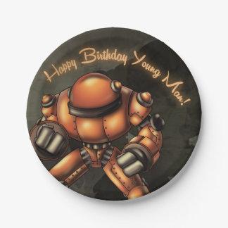 Big Robot Birthday Paper Plates