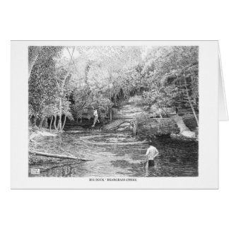 Big Rock, Cherokee Park greeting card/note card