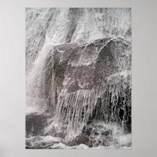 Big Rock Water Fall Poster