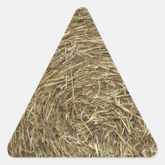 Big roll of hay background triangle sticker