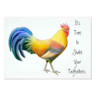 Big Rooster Party Invitation
