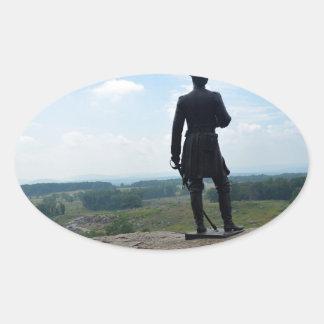 Big Round Top in Gettysburg Oval Sticker