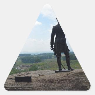 Big Round Top in Gettysburg Triangle Sticker