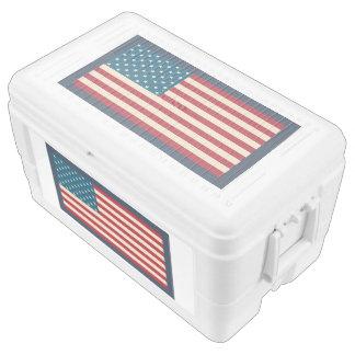 Big Rustic American Flag Cooler