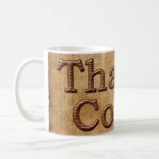 Big Rustic Faux Wooden THANK YOU Coach Gifts Mugs