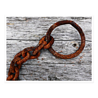 Big Rusty Chain and Ring Postcard