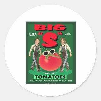 "Big ""S"" Tomatoes Classic Round Sticker"