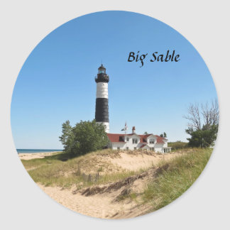 Big Sable Lightouse Classic Round Sticker