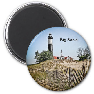Big Sable Point Lighthouse 2 Inch Round Magnet