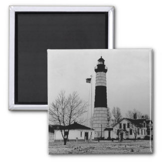 Big Sable Point Lighthouse 2 Inch Square Magnet