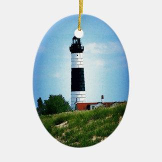 Big Sable Point Lighthouse Ceramic Ornament