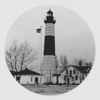 Big Sable Point Lighthouse Classic Round Sticker