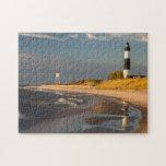 "Big Sable Point Lighthouse On Lake Michigan 2 Jigsaw Puzzle<br><div class=""desc"">Chuck Haney / DanitaDelimont.com USA,  North America,  Michigan</div>"
