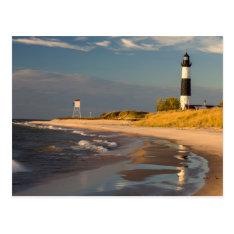 Big Sable Point Lighthouse On Lake Michigan 2 Postcard at Zazzle