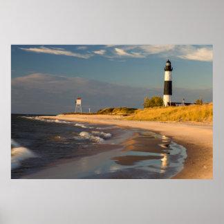 Big Sable Point Lighthouse On Lake Michigan 2 Poster