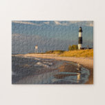 Big Sable Point Lighthouse On Lake Michigan 2 Puzzles