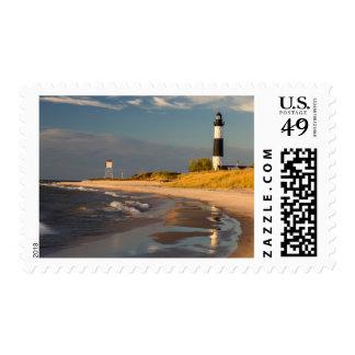 Big Sable Point Lighthouse On Lake Michigan 2 Stamps