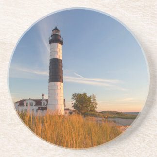 Big Sable Point Lighthouse On Lake Michigan 3 Drink Coaster